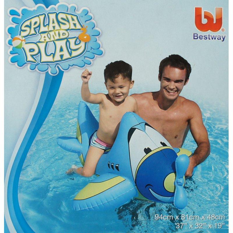 Wasserspielzeug poolspiele airplane rider aufblasbares for Aufblasbares schwimmbecken angebote