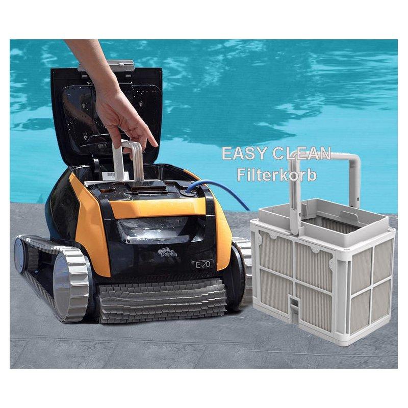 dolphin e20 poolroboter poolroboter m aktivb rste und filterkorb von maytronics ebay. Black Bedroom Furniture Sets. Home Design Ideas