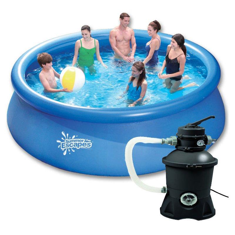 pool set easy 3 66 m x 0 91 m inkl sandfilter und filtersand 169 0. Black Bedroom Furniture Sets. Home Design Ideas