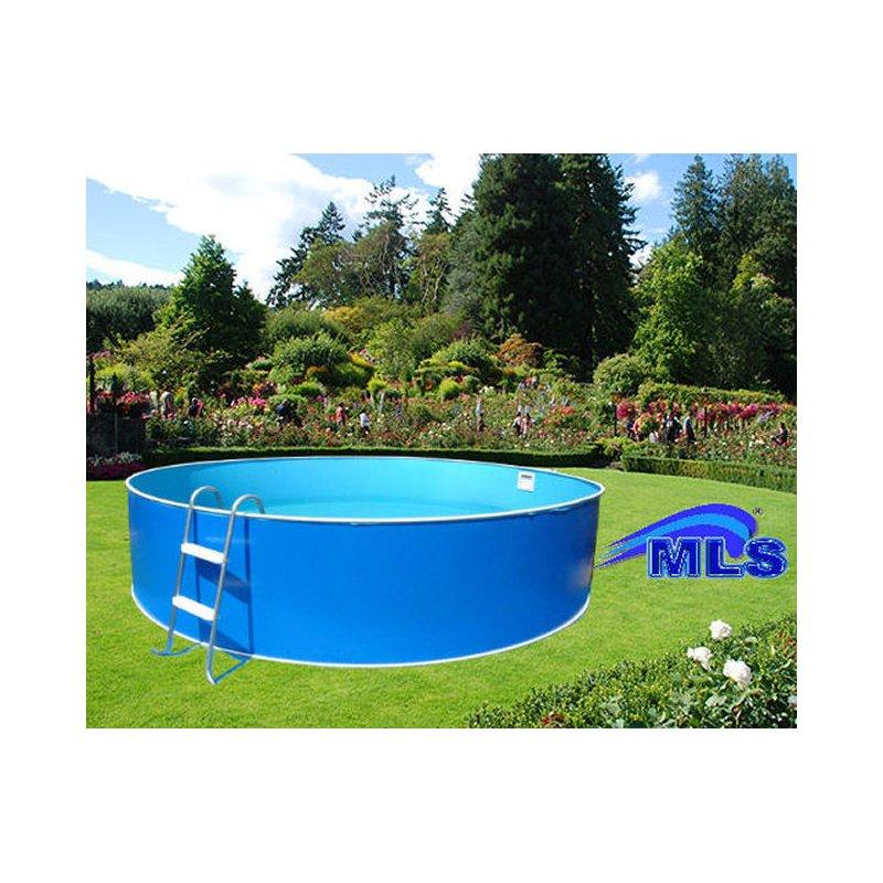 Rundpool schwimmbecken set komplettset inkl for Folienverlegung schwimmbad