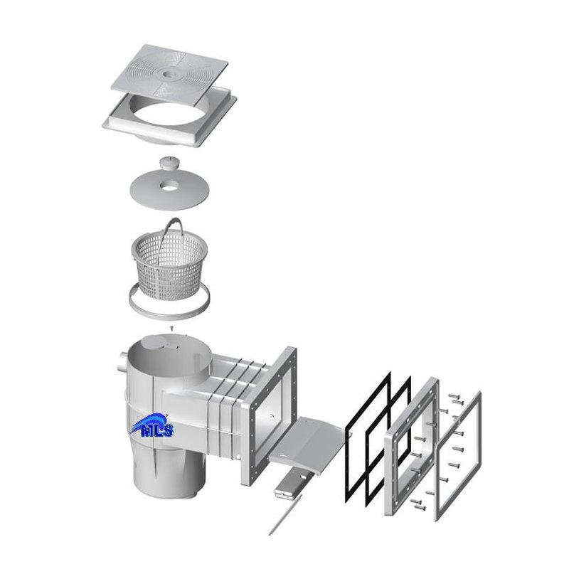 skimmer typ 17 5 f r folienbecken 270 mm 62 00. Black Bedroom Furniture Sets. Home Design Ideas