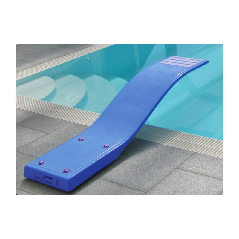 Swimmingpool schwimmbecken pool sprungbrett blau mit anti - Sprungbrett fur pool ...