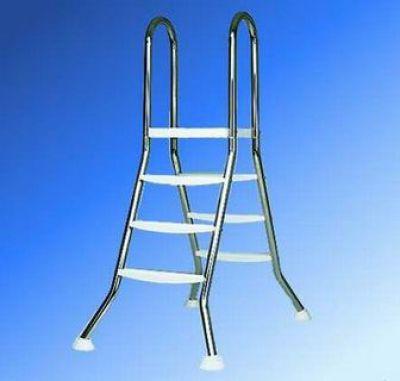 poolleiter hochbeckenleiter aus edelstahl 2 x 3 stufen m plattform swimmingpool ebay. Black Bedroom Furniture Sets. Home Design Ideas