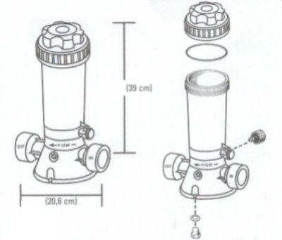 automatischer chlordosierer dosierschleuse f r. Black Bedroom Furniture Sets. Home Design Ideas