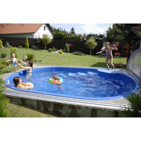 Schwimmbecken OLYMP Glasfaser Kunststoff ...
