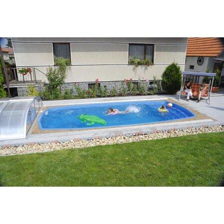 Schwimmbecken ORION Glasfaser Kunststoff ...