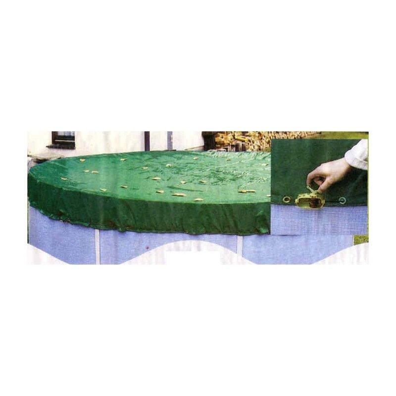 Poolplane Plane rund Seilzug Pool Ø 3,66 m Poolfolie Poolabdeckung Abdeckplane