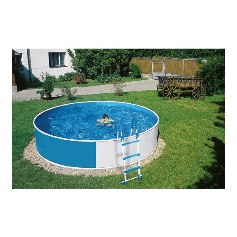 Schwimmbecken set 3 60 m x 0 90 m rund inkl einh ngefilter for Pool rund 3 60