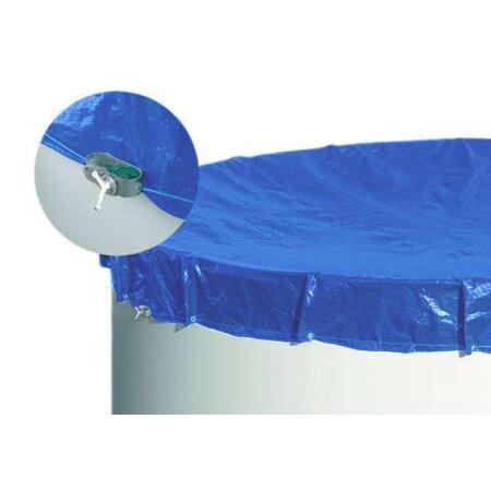abdeckplane f r pool schwimmbecken rund 4 60 m in blau 40 00. Black Bedroom Furniture Sets. Home Design Ideas
