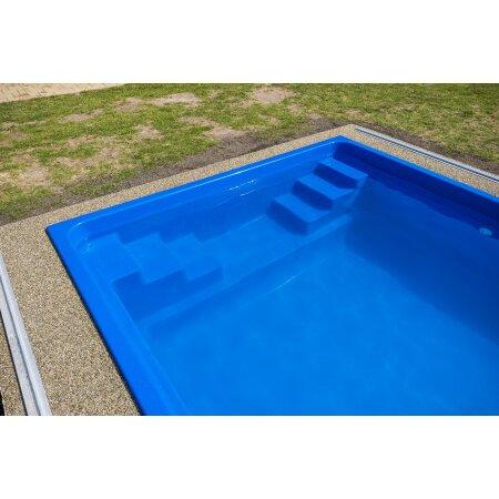 Schwimmbecken FENIX Glasfaser Kunststoff ...