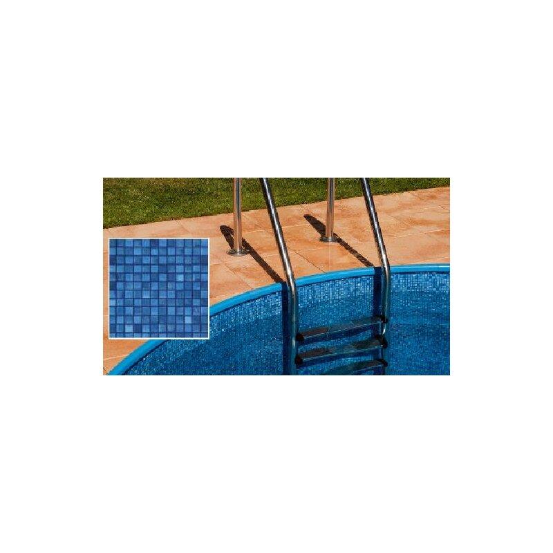 Poolfolie mosaikfliese ibiza m x m x 0 6 mm 310 for Ersatzfolie pool rund