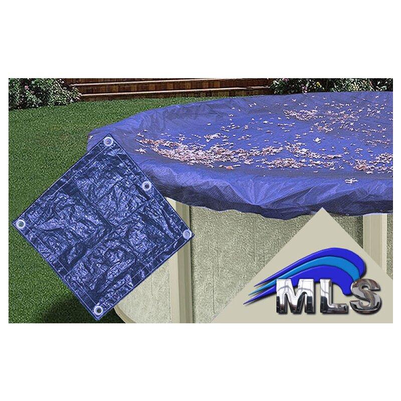 abdeckplane f r pool schwimmbecken rund 3 60 m in blau 21 00. Black Bedroom Furniture Sets. Home Design Ideas
