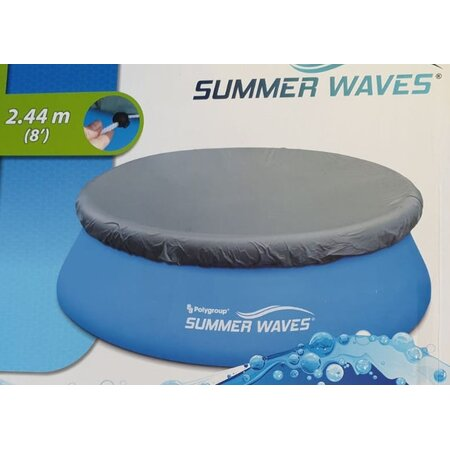 Summer Waves Abdeckplane für Pool 2.44 m Intex und andere