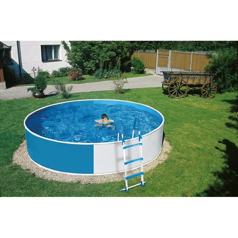 pool set komplett schwimmbecken rund 3 60 m mit filteranlage und leiter rundpool ebay. Black Bedroom Furniture Sets. Home Design Ideas