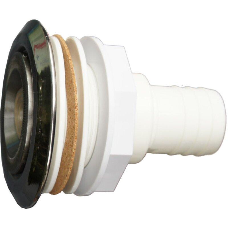 Einlaufd se edelstahl mit dichtungen f r folie 38 mm for Folie fur pool