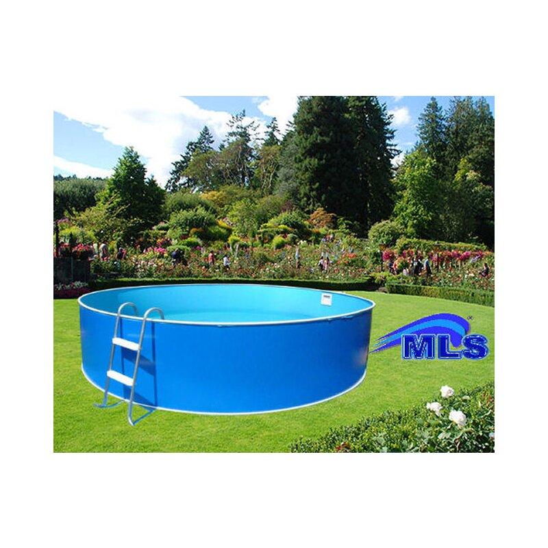 Schwimmbecken set m komplettset inkl sandfilter 355 for Schwimmbecken stahlwand set